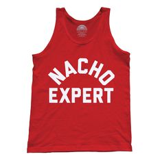 Unisex Nacho Expert Tank Top - Funny Minimalist Hipster Foodie Shirt. Assorted colors; printed on soft 100% combed, ringspun cotton with eco-friendly water-based inks. $25.00 from #Boredwalk, plus free U.S. shipping. Click to purchase!