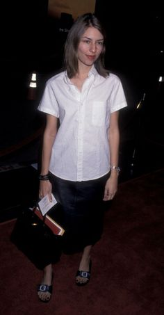 Sofia Coppola attends the premiere of 'The Straight Story' at El Capitan Theater in Hollywood. (October 1999)