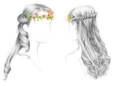Jolies coiffures de mariée Mariages et babillages I Blog