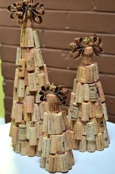 Cute wine cork trees!