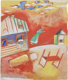 Collection Online | Marc Chagall. Quarrel. ca. 1914 - Guggenheim Museum