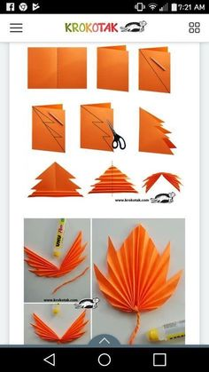 Printable Banner Autumn, Garland Leaves Mushroom Acorn, Nursery Banner, Nursery … – Wedding Tips & Themes Fall Paper Crafts, Easy Fall Crafts, Fall Crafts For Kids, Thanksgiving Crafts, Origami Ball, Diy Origami, Origami Tutorial, Paper Fan Decorations, Decoration Party