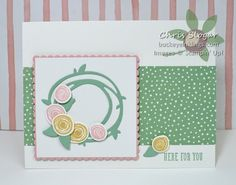 SU! Swirly Bird stamp set, Swirly Scribbles Framelits, Layering Squares Framelits - Chris Slogar