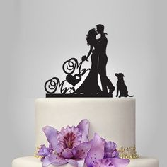 We produce all kind of personalize wedding cake toppers . include with custom last name and Mr&Mrs . make it unique to you or present for your friend, Also we make monogram funny cake topper, init