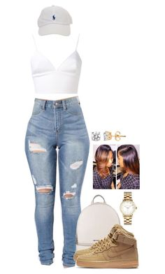"""Untitled #2178"" by basnightshine1015 ❤ liked on Polyvore featuring Clover Canyon, MICHAEL Michael Kors, NIKE and Marc by Marc Jacobs"