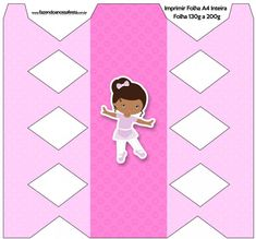 Caixa de Bala  Bailarina Afro Rosa: