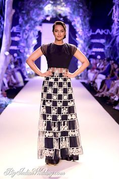 Sonakshi Sinha for Manish Malhotra at Lakme Fashion Week Summer/Resort 2014