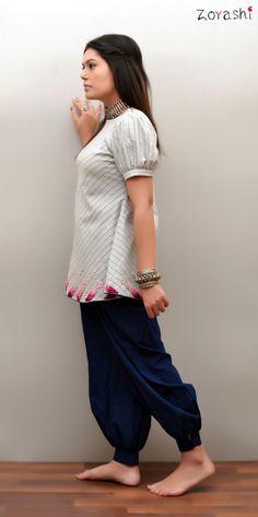 Zoyashi resort wear' 2016. Pure handloom Khadi top with pants.