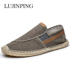 ==> [Free Shipping] Buy Best New Casual fashion men shoes loafers espadrilles men trainers jute linen shoes for men scarpe estive uomo superstar buty Online with LOWEST Price   32817298600