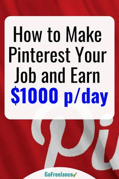 Love Pinterest? Then why not make spending time on Pinterest your full-time job. Have fun browsing and pinning, and get paid well for doing it. If you love spending time on Pinterest, you should consider making a career of it. Yes, that's right. You can actually turn Pinterest into your job. Many people are already doing this, and making a fantastic living at it. Many are earning well in excess of $1000 a day! CLICK 'READ' TO FIND OUT MORE! Work From Home Jobs, Make Money From Home, Way To Make Money, Make Money Online, Money Fast, Home Based Business, Business Tips, Online Business, Blogging