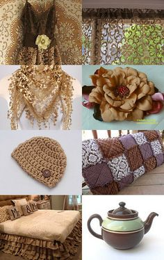 Brown Treasures by Flower Boutique on Etsy--Pinned with TreasuryPin.com