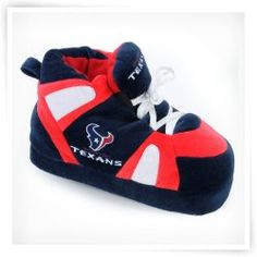 Comfy Feet NFL Sneaker Boot Slippers - Houston Texans