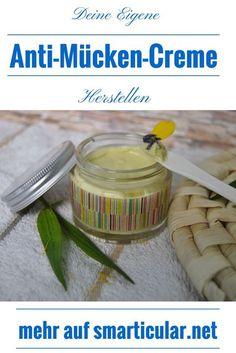 Anti-Mücken Cremes müssen keine giftigen Chemikalien enthalten. Mit ein paar natürlichen Mitteln stellst du schnell eine tolle Creme her, die die Mücken hassen werden!