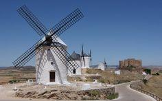 Consuegra, moinhos de vento Vetor