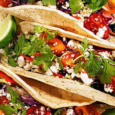 Satisfying summer #dinner: spicy black bean #tacos with tangy slaw