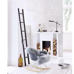 Design-Schaukelstuhl in schwarz, weiß von VITRA bei IMPRESSIONEN