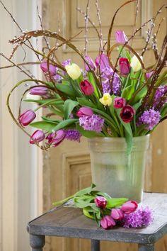 Blumenstrauß * Tulpendeko * Osterdeko * Ideen für Osterdekoration * IZB