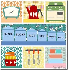 Sew Retro paper piecing patterns by #quietplay