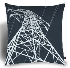 Anthony Hughes - Pylon Cushion in Alumina - Textiles with Surface Design