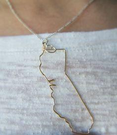 California State Necklace by theFolk via Etsy.
