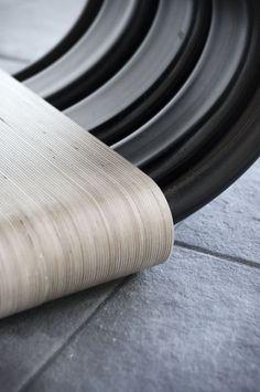 WOBBLE | Active chair | Recycled rubber handrails | by Leon van Zanten