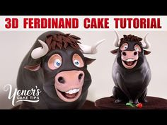 3D FERDINAND BULL CAKE Tutorial | Yeners Cake Tips with Serdar Yener fro...