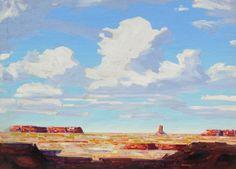 """Desert Sky"" Oil on Board / 24.5 x 32.5 in."