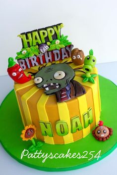Cake decorating is one associated with the many incredible abilities anyone could have. Zombie Birthday Cakes, Zombie Birthday Parties, Special Birthday Cakes, Happy 6th Birthday, Zombie Party, Zombie Cakes, Birthday Boys, Plants Vs Zombies, Zombies Vs