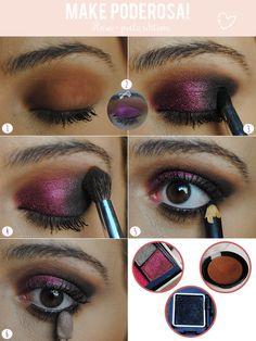 Tutorial: Make rosa + preto para a noite