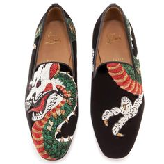 christian louboutin knockoffs - Men Shoes - Henri Tattoo Carp Flat - Christian Louboutin ...