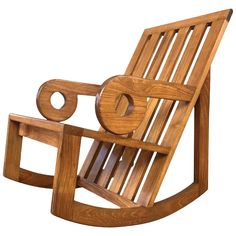 An early and rare Aperture rocker in teak by Monterey, California, designer, architect, and artist Kipp Stewart for Summit Furniture. Woodworking Toys, Woodworking Projects, Woodworking Furniture, Furniture Plans, Router Projects, Woodworking Chisels, Youtube Woodworking, Cabin Furniture, Woodworking Equipment
