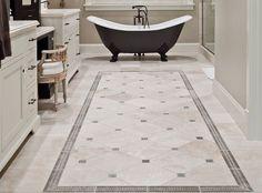 Vintage bathroom decor ideas with simple vintage bathroom floor tile pattern
