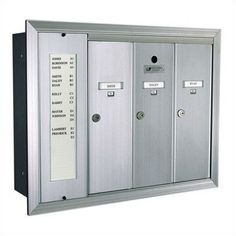 1255 Series Vertical Mailbox Unit with Directory Number of Compartments & Directories: 1 Directory & 5 Compartments, Color: Aluminum Anodized by Florence Mailboxes. $245.99. 1255-15A-Aluminum Anodized Number of Compartments & Directories: 1 Directory & 5 Compartments, Color: Aluminum Anodized Features: -Anodized Aluminum and Gold Anodized are paint rated for indoor use only.-Secure and tamper resistant.-USPS approved.-Fully recessed.-Tenant-name card holder sta...