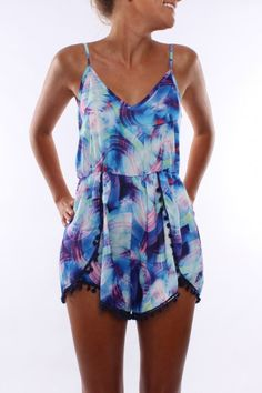 Love this amazing Exposure Playsuit! Only $49 AUD!! SHOP: http://www.jeanjail.com.au/exposure-pom-pom-playsuit-1.html