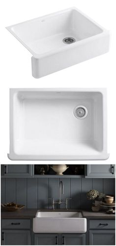 167 best decor farmhouse sinks images decorating kitchen diy rh pinterest com