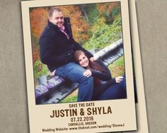 Wedding Save the Dates Photo Magnets Printed by SAEdesignstudio