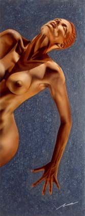 Female nude | #airbrush #painting