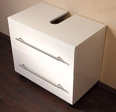 Universal Base on Wheels 70 cm White Gloss Vanity Bathroom Cabinet for your Bathroom Sink: Amazon.co.uk: Kitchen & Home