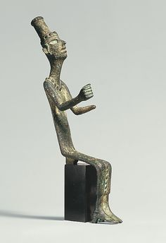 Figure of a seated goddess Period: Late Bronze Age Date: ca. 14th–13th century B.C. Geography: Syria-Levant Culture: Canaanite