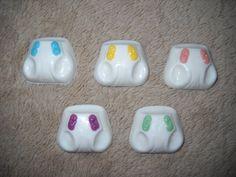 1 chocolate baby shower cupcake topper diaper lollipop lollipops | sapphirechocolates - Edibles on ArtFire