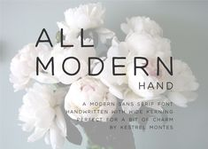 All Modern Hand by Kestrel Montes is an handwritten all caps sans serif font with wide kerning. Balanced lines and simple proportions, All Modern is perfect for logos, invitations, marketing Font Design, Design Typography, Graphic Design, Modern Sans Serif Fonts, Modern Fonts, Calligraphy Fonts, Modern Calligraphy, Script Fonts, Wedding Invitation Fonts