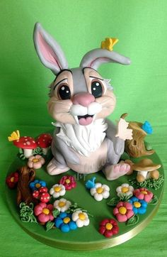 Thumper - by Cookforlove @ CakesDecor.com - cake decorating website