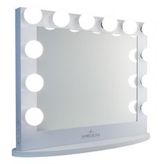 Impressions Vanity Hollywood Iconic XL Plus White Vanity Mirror White Vanity Mirror, Hollywood Vanity Mirror, Easy Wall, Perfect Makeup, Venetian Mirrors, Incandescent Bulbs, Beauty Room, Beddinge, Save Energy