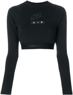 b5ea1d8c Nike Air Cropped Long-Sleeve Black Top #sportswear #activewear  #workoutclothes #shopstyle