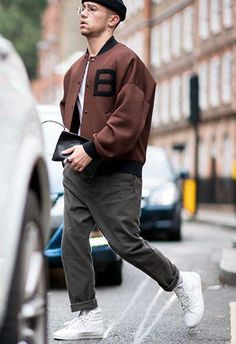 Oversized Bomber Look. Shop this look at The Idle Man #StyleMadeEasy