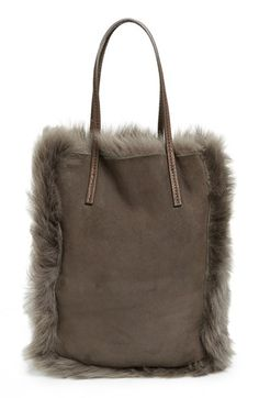 Pedro Garcia 'North South' Genuine Lambskin Shearling Tote | Nordstrom