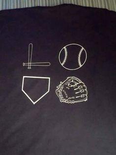 Love baseball t shirt by Showngocheerbows on Etsy