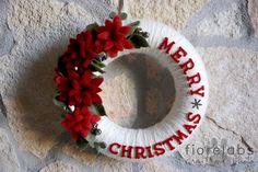 wreath felt christmas by Fiore