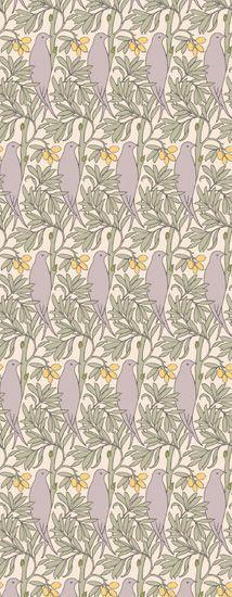 The Purple Bird by: Trustworth Studios, a British design studio, has some of the most beautiful original wallpaper designs.