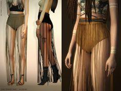 The Sims 4 Mody: Długa spódnica Fringed od Mangolia-C
